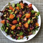 Beet Orange Watercress walnut salad