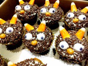 Spooooookacular! Pumpkin Caramel Little Monster Halloween Cupcakes From Scratch Recipe