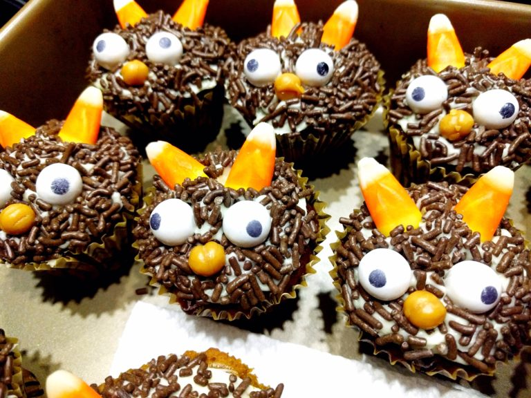 Spooooookacular! Pumpkin Caramel Little Monster Halloween Cupcakes From Scratch Recipe
