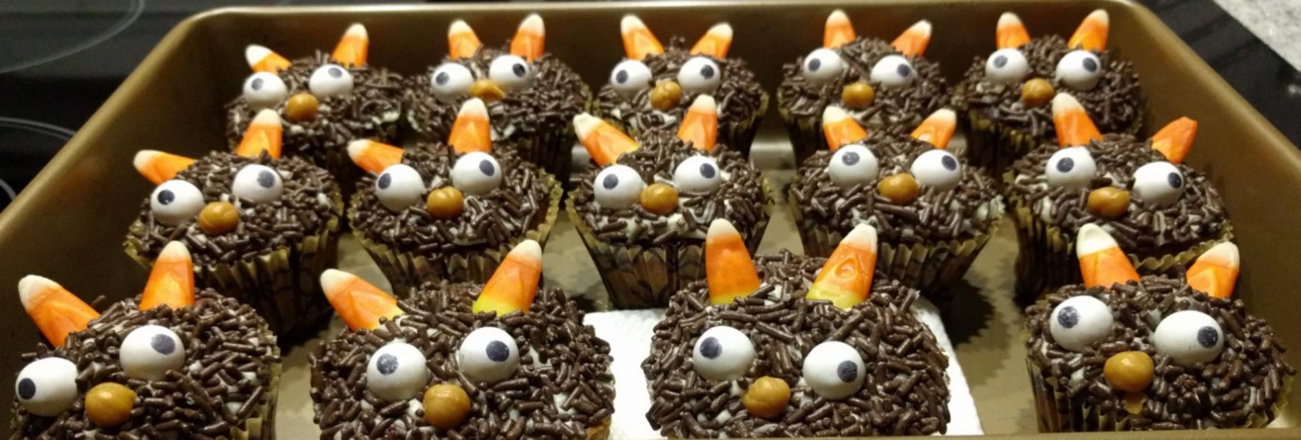 Spoookacular pumpkin caramel little monster halloween for How to make halloween cupcakes from scratch