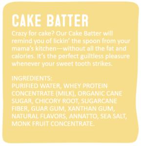 Arctic Zero Cake Batter Ingredient List