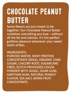 Arctic Zero Chocolate Peanut Butter Ingredient List